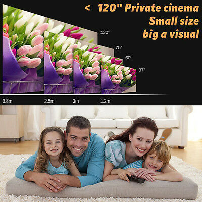 1200 Lumens GP70 LCD Portable LED Projector Compatible Full HD 1080P HDMI
