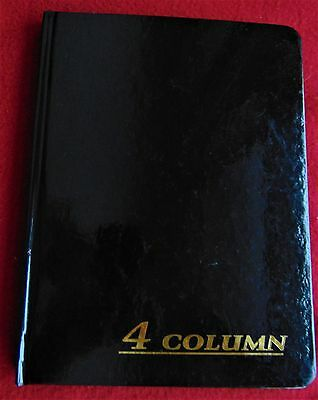 ADAMS ACCOUNT BOOK ~ 4-Column Black Shiny Cover  ~ 9.25 x 7 Inches 80 Page Book