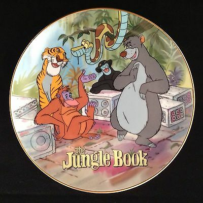"""Nice Disney Animals """"The Jungle Book"""" Collector Plate Japan Excellent"""