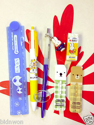 Miffy Stationery Set Writing school Pencil Ball pen erase kit Hello Kitty kid A9