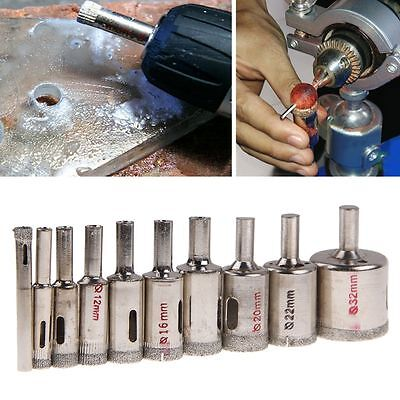 10Pcs 6mm-32mm Diamond Hole Saw Tile Drill Bit Ceramic Glass Coated Marble Tool