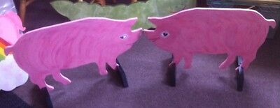 2 x PIGS shaped Horse show jump fillers or wings pony show farm events