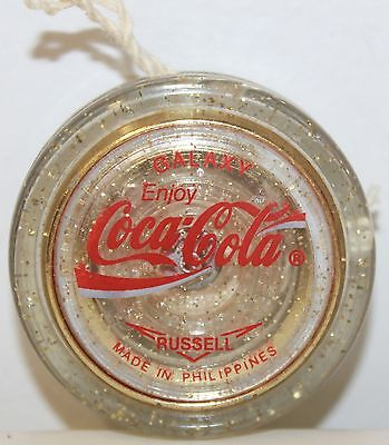 Vintage 1990 Russell Coca Cola Galaxy Yo-Yo, Made in Philippines. New Condition.