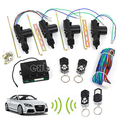 Universal Car 2Remote Central Kit Auto Door Lock Vehicle Keyless Entry System DT