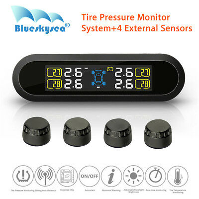 LOCAL! Car TPMS Tire Pressure Monitor+4 External Sensors Solar Power For Toyota