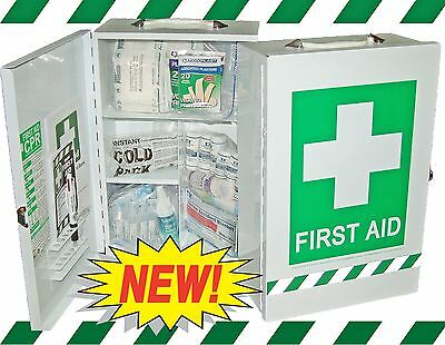 First Aid Kit - National Safe Work Australia Workplace Wall Cabinet +Free Items