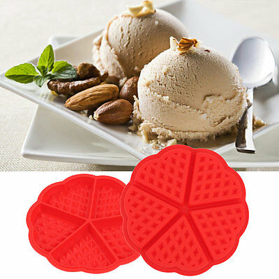 3D Silicone Cake Mold Waffle Muffin Cake Moulds DIY Baking Tools Love Heart ZX