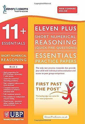 11+ Essentials Short Numerical Reasoning by Eleven Plus Exams New Paperback Book