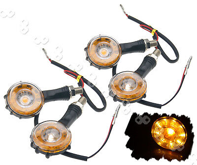 4 X Universal 10 LED Motorcycle Motorbike Tail Turn Signal Indicator Light Amber