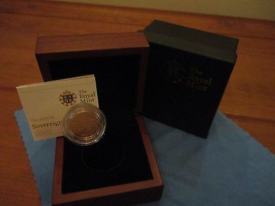 2012 Royal Mint Gold Proof Sovereign complete in case and outer box with COA
