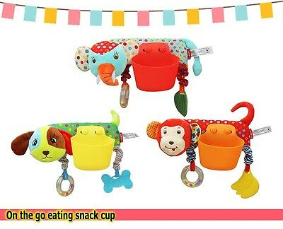 Baby Toddler Kid Child Stroller Carriage Seat On the Go Eating Snack Cup Bowl