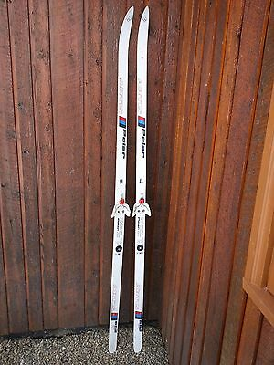 """A Very Interesting Vintage 75"""" Long Skis with WHITE Finish"""