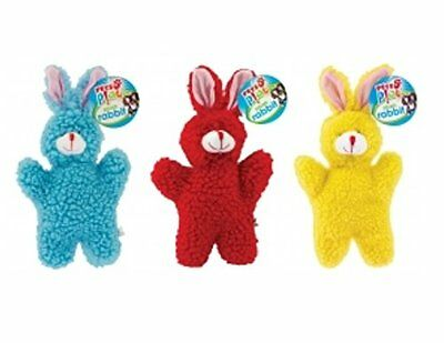 Rabbit Colourful Pets Play Soft Fluffy Squeaky Pet Dog Plush Toy-PAP1058