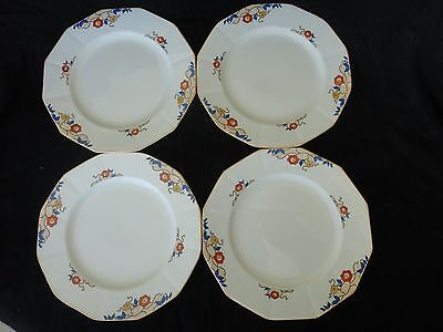 "Vintage! 4 Pc Set Of Dinner Plates 8"", Myott Son & Co, JEANETTE 2045, No Tax"