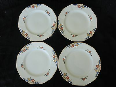 "Vintage! 4 Pc Set Of Bread Plates 6"", Myott Son & Co, JEANETTE 2045, No Tax"