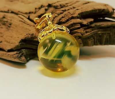 Pendant Baltic Amber Natural Stone Nr278 6,1g Butterscotch Bead Old Sea Rare