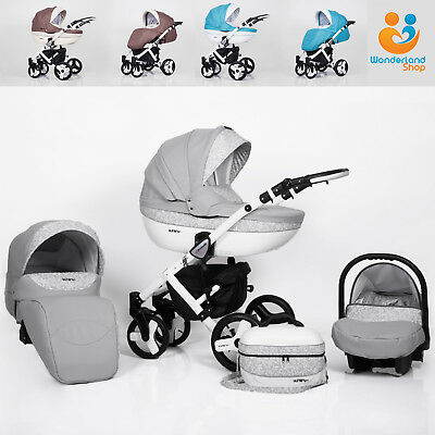 Baby Pram 3in1 Stroller Pushchair Car Seat Carrycot Travel System Buggy Newborn