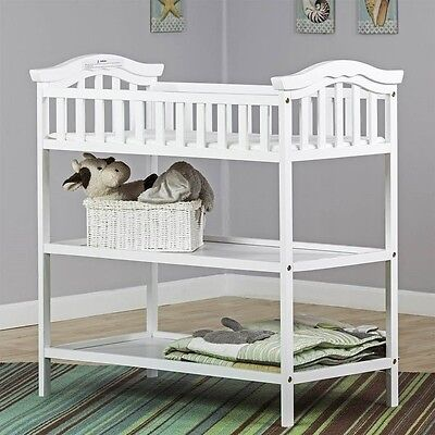 Dream On Me Jessica Changing Table in White Transitional Baby