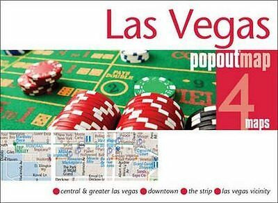 Las Vegas Popout Map New Sheet map  folded Book