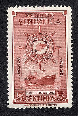 1948 Venezuela 5c ist Anniv of Greater Colombia Merchan SG 791 FINE USED R21291