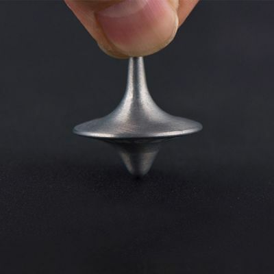 Stainless Print  Perfect Kids Movie Children Silver Spinning Top Alloy