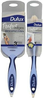 "2 x Dulux Perfect Edges Triangular Paint Brushes 1"" (25mm) or 3"" (75mm)"