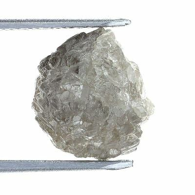 Silver Gray Diamond Natural Uncut  Rough 3.08 Ct for Engagement Ring
