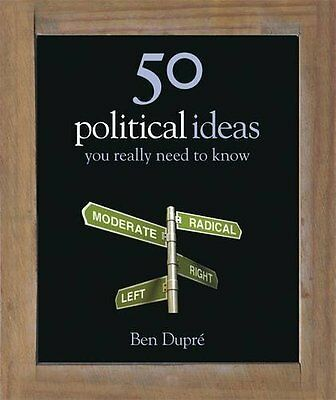 50 Political Ideas You Really Need to Know by Dupre  Ben Hardback New  Book