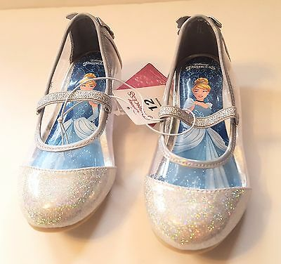 Disney Toddler Girls' Princess Cinderella Ballet Flats Shoes Silver Size 12 or 7