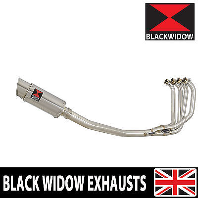 KAWASAKI ZRX 1200 Full Exhaust System 200mm Round Stainless Silencer 200SS