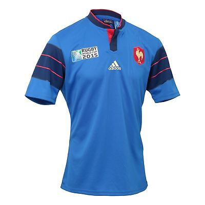 adidas French Federation Rugby World Cup Home Jersey A95802~Mens~UK Seller