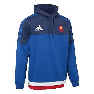 adidas French Federation Rugby Hooded Sweat S07527~Mens~Hoodies~UK Seller