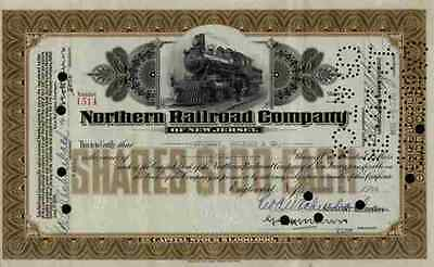 Northern Railroad 1934 New Jersey Englewood Bergen Sparkill Historic Shares Erie
