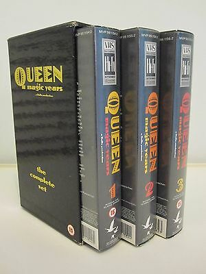 QUEEN  :  Magic Years 1, 2 & 3 The Complete Box Set - VHS PAL Video (1987)