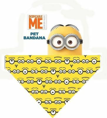 Despicable Me Pet Bandana Dog Puppy Minion Collar Clip Adjustable Cat Neck Scarf