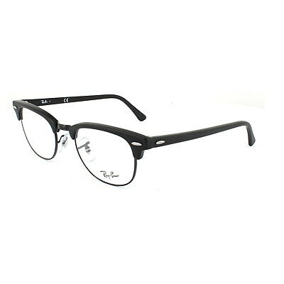 Ray-Ban Glasses Frames 5154 Clubmaster 2077 Matt Black 49mm