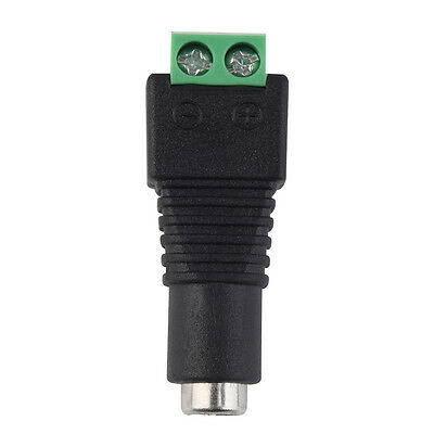 DC12V Power Plug Adapter Connector Female For 5050 3528 LED Strip Light ZX