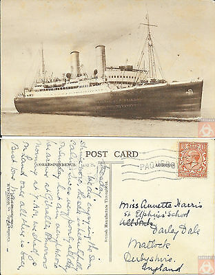 Angleterre - Carte Postale PAQUEBOT - MONTCALM - Posted at Sea 1933 - London FS