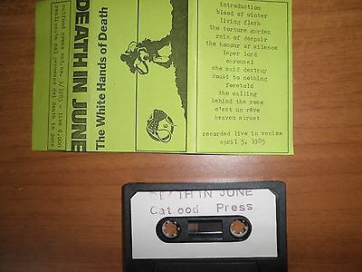 DEATH IN JUNE White hands of death 1985 official live tape cassette k7