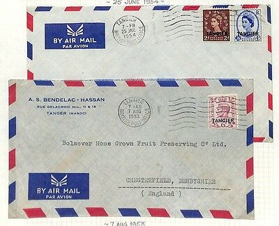 LA2 1953 British Post Offices in Morocco Tangier Cancels {samwells-covers}PTS
