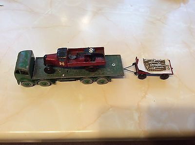 Dinky Foden Chain Lorry With Old Trailer And Crash Damaged Lorry