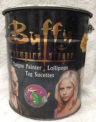 Chupa Chips Lollipops Large Metal Tin Buffy The Vampire Slayer Collectors Editio