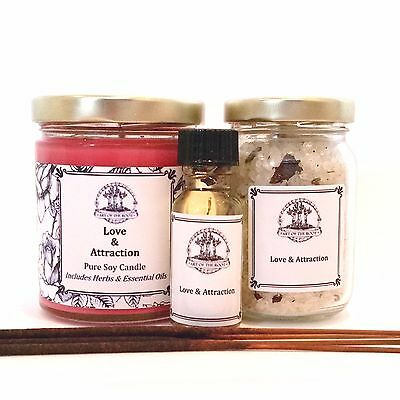 Love Spell Kit for Romance Commitment Passion Relationships Hoodoo Wiccan Pagan
