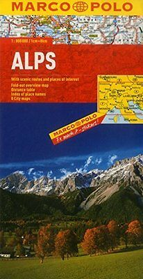 Alps Marco Polo Map by Marco Polo New Sheet map  folded Book