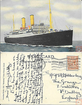 Angleterre - Carte Postale PAQUEBOT - MONTROSE - Posted at Sea 1932 - London FS