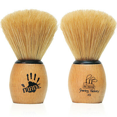 Shaving Factory Pure Boar Bristle Hand Made Shaving Brush XS Extra Small Size
