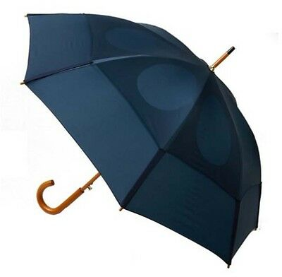 Automatic Golf Umbrella Folding Open Close Light Windproof Large Double Navy