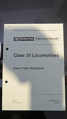 British Rail Class 31 TRAINCREW MANUAL BOOk