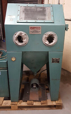 Large sand / shot blasting cabinet with extraction unit