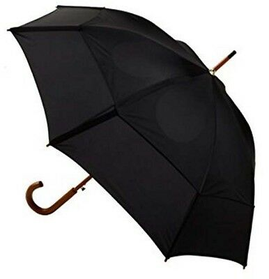 Automatic Golf Umbrella Folding Open Close Light Windproof Large Double Black